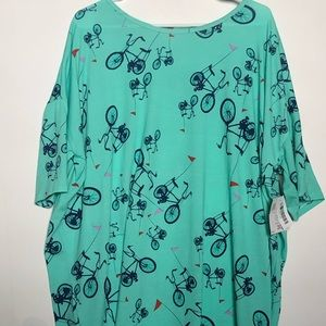 LulaRoe Bicycle Top! SZ 2XL! NWT